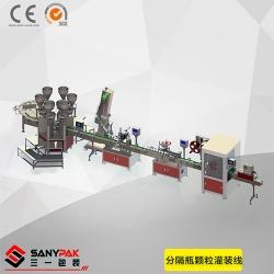 Separate bottle filling production line